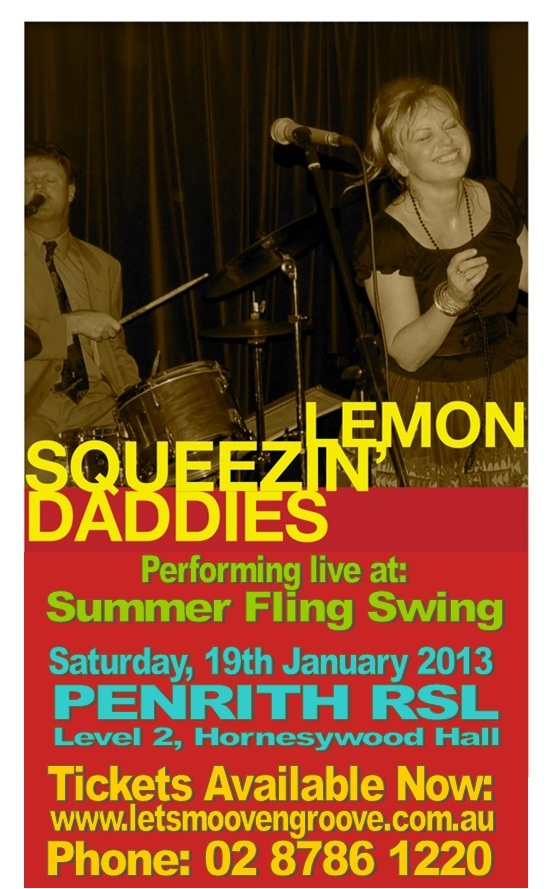 Lemon Squeezin Daddies Penrith RSL Summer Fling Swing 2013